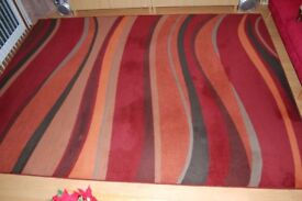 Shiraz red brown orange multi coloured rug