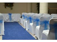 **50p LYCRA WEDDING CHAIR COVER & TABLE CLOTH HIRE** Nationwide delivery ***
