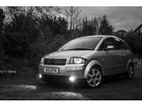 Audi A2 1.4 w/Leather Interior, 58k Miles, FULL MOT, Serviced, Cambelt changed. Lovely condition