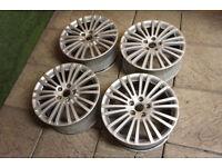 "Genuine Volkswagen Golf R32 18"" Zolder Alloy wheels 5x112 MK5 MK6 Passat EOS Audi A3 A4 Alloys"