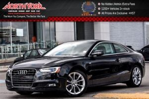 2016 Audi A5 Quattro S-Line|Nav|Leather|Sunroof|HTD Frnt Seats|