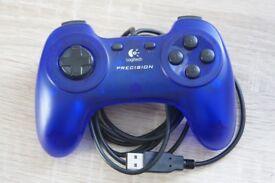 Blue LOGITECH controller