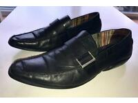 Norberto Costa Men Black Shoes - Size UK 9