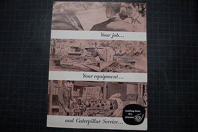 Caterpillar Equipment Vintage D2 D4 Tractor Dozer Brochure Manual Magazine Cat