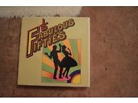 Boxed set of 10 LPs of the Fabulous 50s