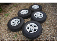 "5x Genuine Land Rover Defender 16"" Boost Alloy wheels 5x165.1 Range Rover 1 Discovery 1 Alloys"