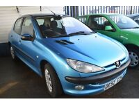 Peugeot 206 LX 2002 1.4 LOW MILEAGE in Good condition With MOT Until November 2017