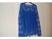 Electric Blue Lace Top - Size 12-14 never worn