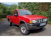FORD RANGER PICKUP 4X4 2000 W REG 149000 MILES EXCELENT CONDITION