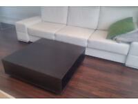 BLACK IKEA SOLID WOOD COFFEE TABLE