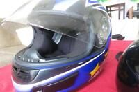 Two motorcyle HELMETs ............................. DOT Approved