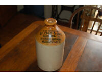 S F Jones & son Manchester large stoneware bottle approximately 4 inches high
