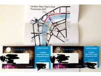 TWO New Year's Eve Firework tickets BLUE area