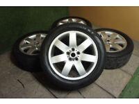 "Genuine Range Rover 20"" Alloy wheels 5x120 Sport Land Rover VW T5 Alloys Silver L322 P38"