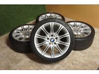 "Genuine BMW 3 Series E46 18"" MV2 Alloy wheels 5x120 1 Series Z3 Z4 Alloys"