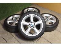 "Genuine BMW 1 Series 17"" Sport Alloy wheels 3 Series E81 E82 E88 E87 E46 E36 Alloys"