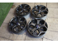 "Genuine FORD Focus ST 18"" Alloy wheels 5x108 Grey Focus Mk2 Mondeo Transit Connect Alloys"