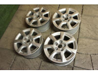 "Genuine Audi A3 16"" Alloy wheels 5x112 8P VW Golf Caddy Sport Cabrio Alloys"