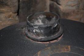 Cast barrell stove woodburner needs repair