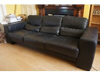 Leather 3 Seat and 2 Seat Sofas - FREE
