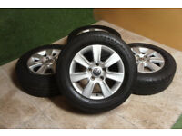 "Genuine VW Transporter T5 16"" Alloy wheels 5x120 Van Load Rated Alloys Caravelle Bus Volkswagen"