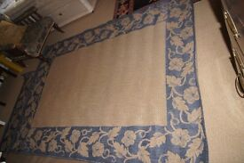 Sisalo Oriental Carpet Weavers Blue/Beige Flat Woven Rug 160 x 230 cms