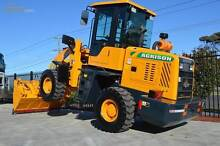 WHEEL LOADER 5500KG 2000KG S.W.L 4IN1 BUCKET SPARE TYRE FORKLIFT Campbellfield Hume Area Preview