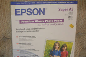 Epson Super A3 glossy paper. Pack of 20