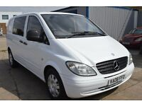 2008 MERCEDES VITO 120 CDI 200 BHP AUTO SWB 6 SEATER IN GOOD CONDITION WITH 1 YEAR MOT JULY 2018