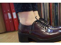 Zara block heel Oxford brogues