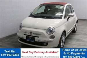 2013 Fiat 500C LOUNGE CONVERTIBLE w/ RED LEATHER! BLUETOOTH! HEA