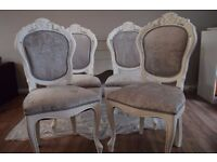 Shabby Chic Rococo French Louis Dining Chair Velvet CHOOSE YOUR COLOR AND FABRIC