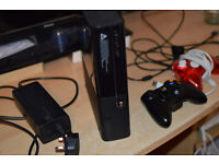 Xbox 360 250gb Elite with two controllers.