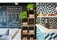Sales Assistant: Organic Juice Bar + Kitchen