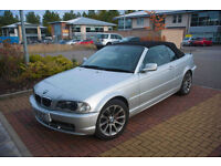 BMW Convertible with private plate, low mileage and electric hood
