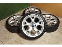"Genuine FORD Fiesta 17"" Street Pack Alloy wheels 4x108 Puma Bmax Zetec S ST Alloys"