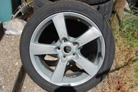 Set of RX8 5 Spoke Alloy wheels and tyres. 5X114.3 PCD. 225/45/R18 TYRES. vivaro b/trafic III