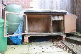 Large Guinea pig hatch 60x60x120cm winter proof