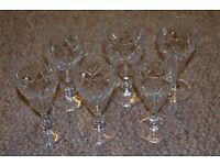 Lovely Vintage set of 6 Liquoir Aperitif Cordial Glasses