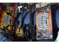 2 Ps3 guitars with games
