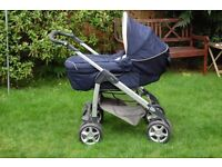 Silvercross pram with linear chassis