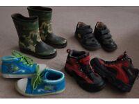 Bundle of boys shoes size 12 UK.