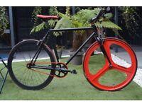 Brand new TEMAN single speed fixed gear fixie bike/ road bike/ bicycles + 1year warranty zzw2