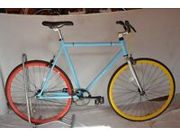 Brand new single speed fixed gear fixie bike/ road bike/ bicycles + 1year warranty & free service ce