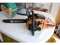 Chainsaw with oiler fault