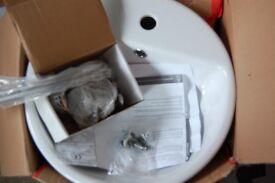 White Sink - Round, plus taps