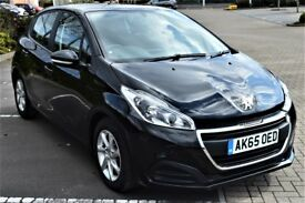 2016 Peugeot 208 1.6 Blue hdi Diesel Manual 5 dr black 1 owner free of tax