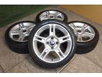 "Genuine FORD Fiesta Zetec S 16"" Alloy wheels & Tyres 4x108 Mk5 Mk6 Mk7 Mk8 Alloys"
