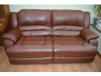 Quality leather sofa and matching reclining sofa