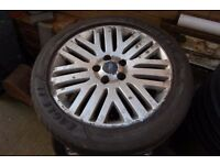 "17"" Mondeo alloy wheel c/w tyre"